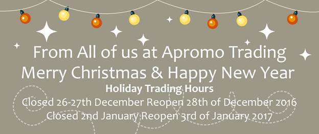 Apromo Trading Christmas Trading Days 2016