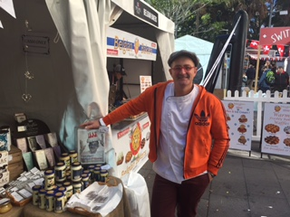 Emmanuel Mollois at the Apromo Trading stall