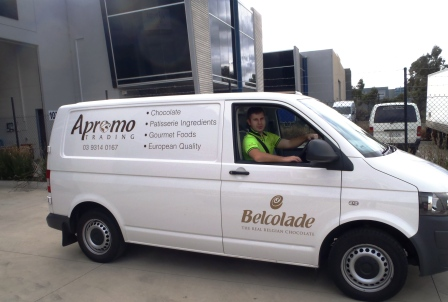 Apromo Trading delivery van leaving our Sunshine West warehouse.