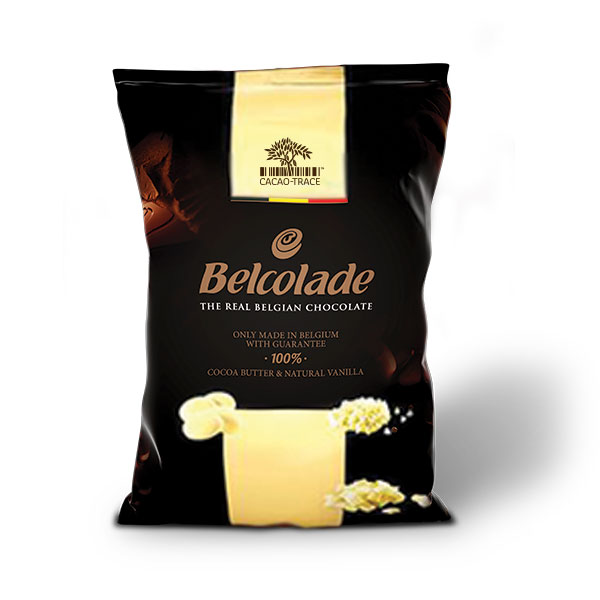 10kg (2x5kg) Belcolade Cacao-Trace Drops 28.5% White 