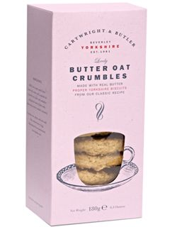 Retail box of Butter Oat Crumbles