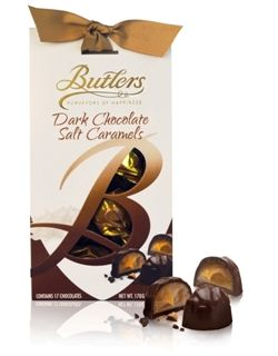 170g Butlers Chocolate Salt Caramels Dark