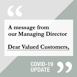 A message from our Managing Director